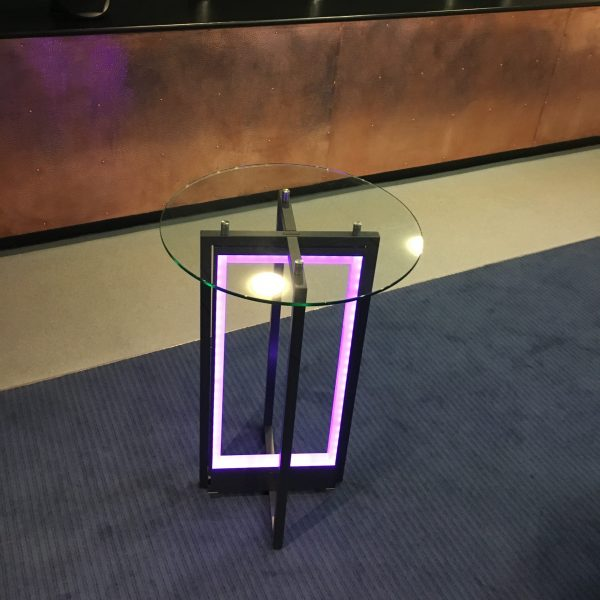 Linen Free LED Cocktail Table