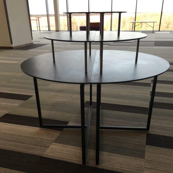 Linen Free Half-Moon tiered Buffet Tables