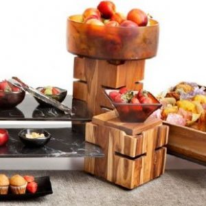 Fusion Buffet System – Natural Teak