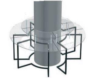Linen Free Hollow Circular Table