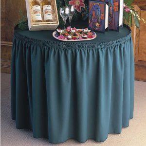 Shirred Gathered Table Skirting