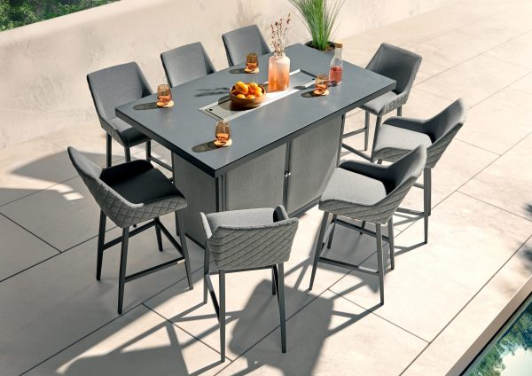 8 Seat Bar and Dining Set With Firepit