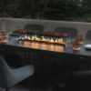 8 Seat Table and Firepit Dining Set